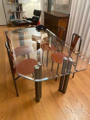 Tavolo in vetro con sedie , design zanotta,Zanotta
