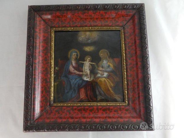 Antico quadro dipinto fiammingo olio su rame