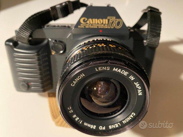 Canon T70 + obiettivo Canon FD 35-70 mm