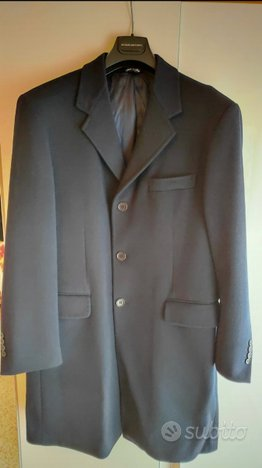 Giaccone in cashmere T. 50 , colore blù