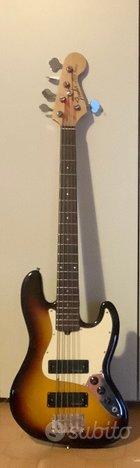Basso 5 corde clone Fender Jazz Bass ASSEMBLATO