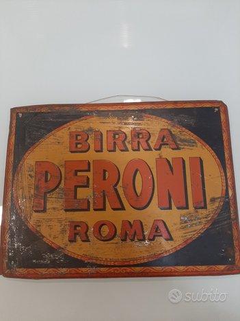 Tabella pubblicitaria Litografata BIRRA PERONI ROM