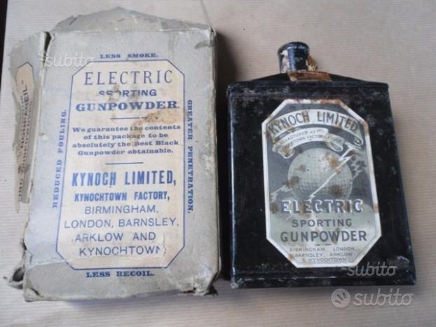 Scatola di polvere da sparo KYNOCH LIMITED 1920
