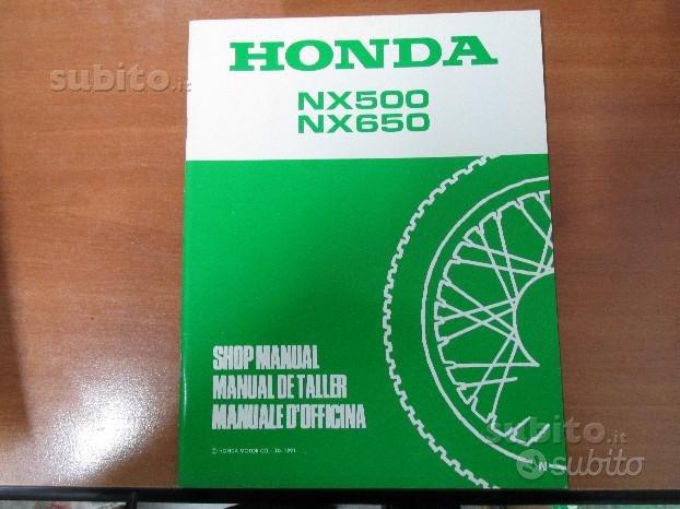 Supplemento manuale officina Honda XR500\650 '91