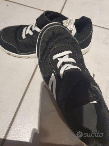 Scarpe ginnastica unisex nere 31 decathlon