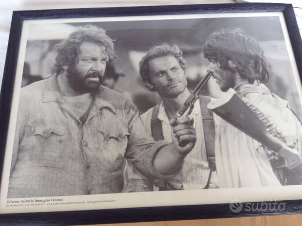 Poster con cornice Bud Spencer e Terence Hill