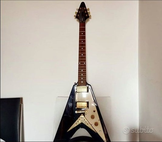 Electric GUITAR Flying V 22 Frets Epiphone con scr