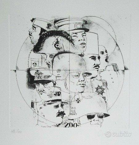 Bruno Caruso - Litografia numerata e firmata