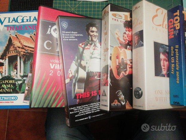 VHS concerti, cartoni an, film varie