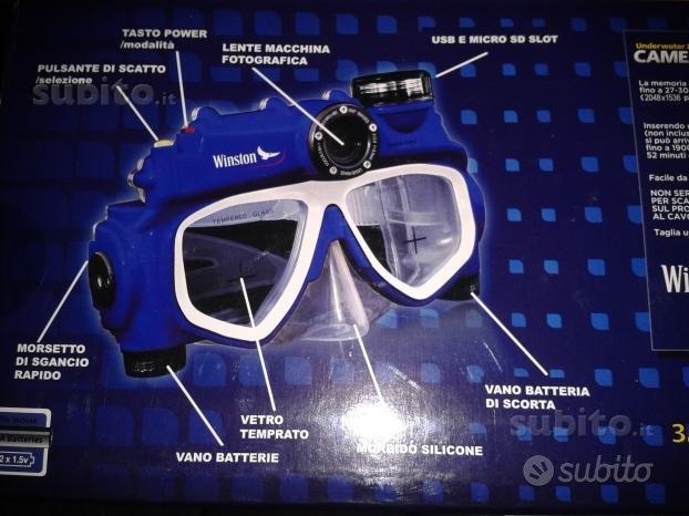Maschera subacquea digitale