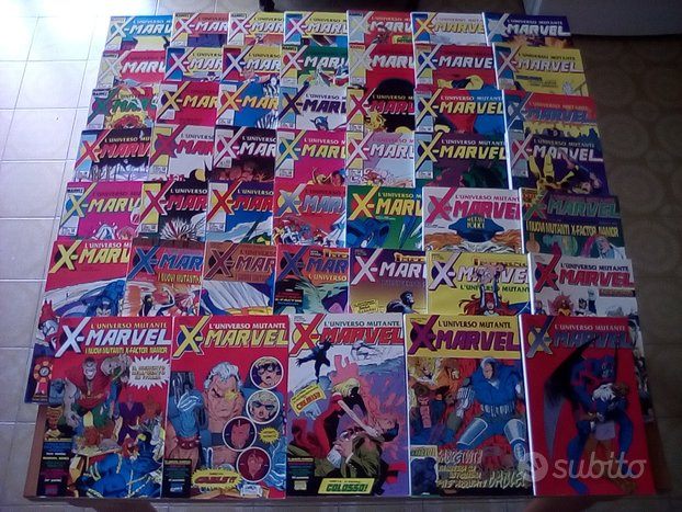 X-Marvel 1/47 Serie completa-Play Press-Marvel