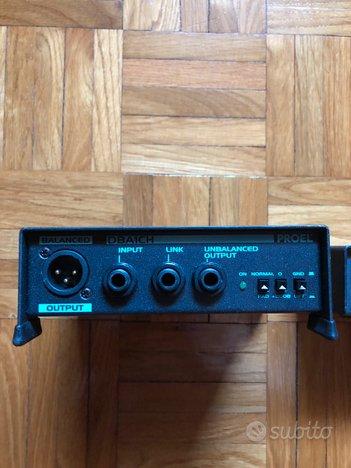 4- Proel DI BOX attiva e passiva- bilanciatore
