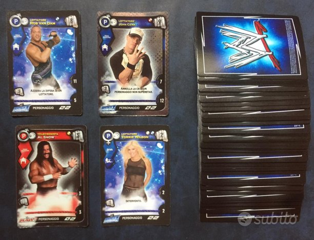 Carte Wrestling WWE - Lotto 70 Carte