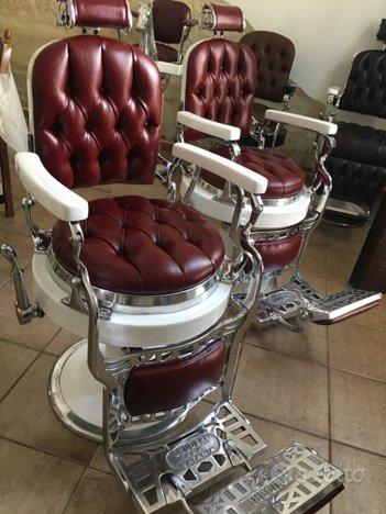 Sedia poltrona da barbiere Scuderi vari modelli