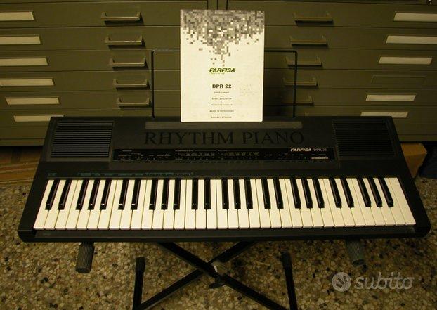 Pianola farfisa mod.dpr22 completa di accessori