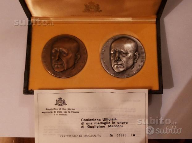 Medaglie commemorative g. marconi san marino 1974