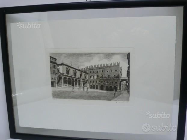 Acqueforti Verona Piazza dei Signori Stampe d'Arte