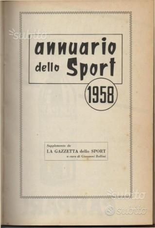 Annuario dello sport 1958