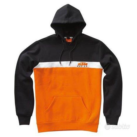 KTM felpa replica nera/arancio