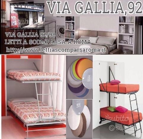 Letti A Mini Castello.Subito Impresa Letti A Scomparsa A Roma Via Gallia 92 Mini