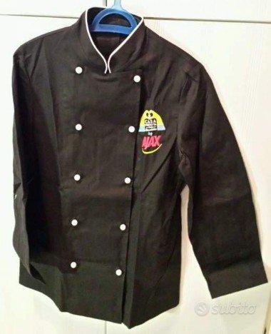 Giacca nera UNISEX da cuoco con maniche Taglia S/M