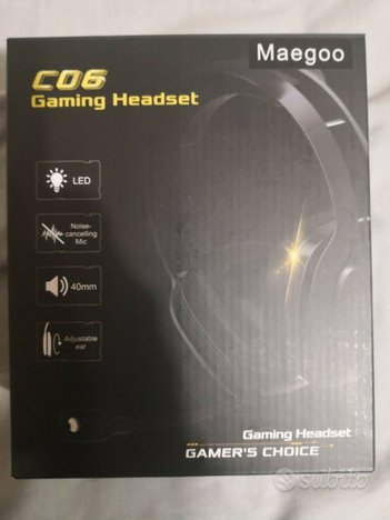 Cuffie GAMING C06 LED 40mm Microfono PS4