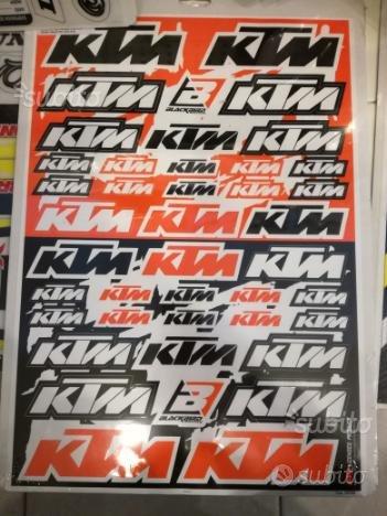 Kit adesivi Ktm arancio nero bianco