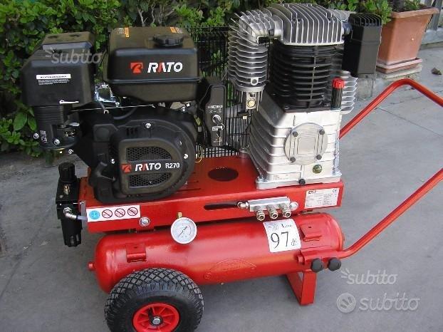 Motocompressore da 650 litri 3 x abbacchiatori