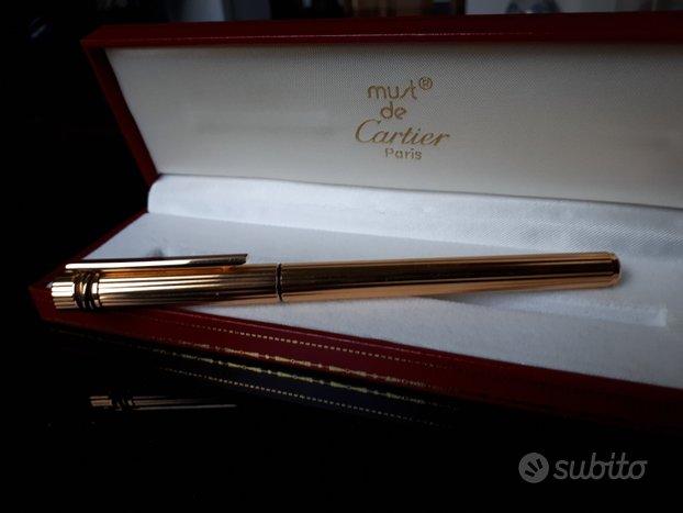 Stilografica Cartier placcata oro come nuova