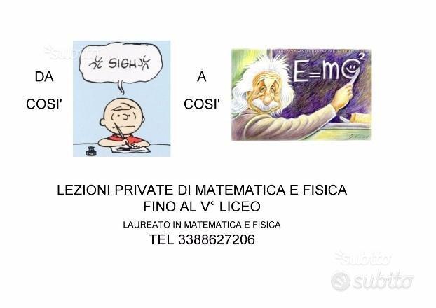 Lezioni private matematica e fisica