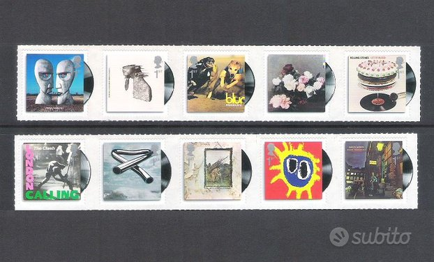 10 francobolli Royal Mail Classic Album Covers