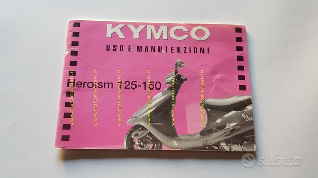 Kymco Heroism 125 - 150 Scooter 1994 manuale uso