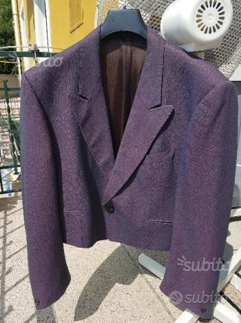 Giacca corta Tailleur Smoking uomo color violetto