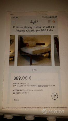 Poltrona vintage BAISITY di ANTONIO CITTERIO.B e B,Antonio CITTERIO