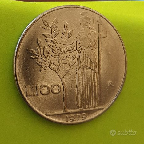 100 Lire Minerva 1° tipo 1979 - Rep. Italiana