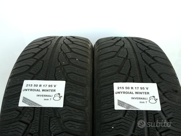 Gomme invernali 215 50 r 17 uniroyal usate