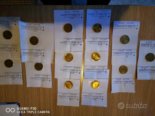 Lotto 14 monete 20 LIRE RAMO DI QUERCIA