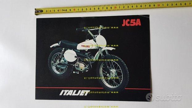 Italjet 50 JC5A minimoto cross depliant anni 70