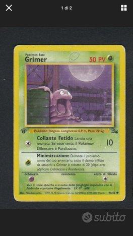 Carta Card Pokemon Grimer 48/62 / Prima Edizione
