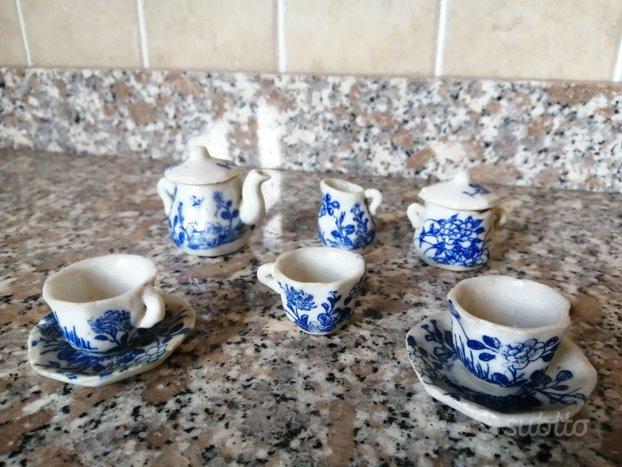 Servito da Thè Mignon in Porcellana, Vintage