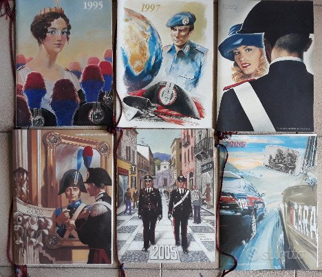 6 Calendari dell'Arma dei Carabinieri 1995-97-99
