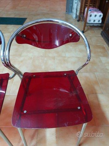 Sedie in acciaio e policarbonato rosse - Arredamento e ...