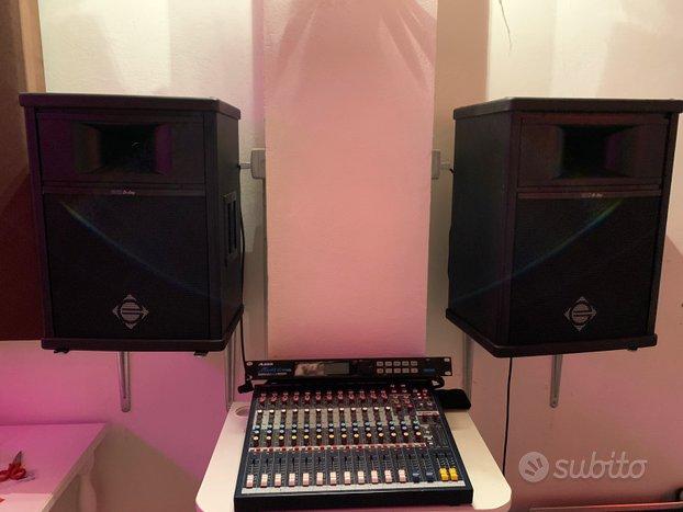 Impianto voce casse mixer Soundcraft effetto Alesi