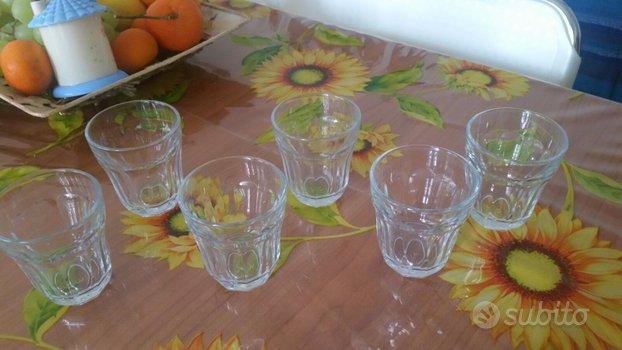 Set 6 bicchieri bicchierini acqua lquore amaro