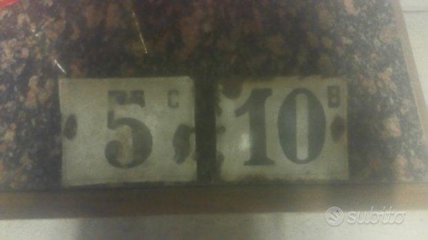 Numeri civici vintage