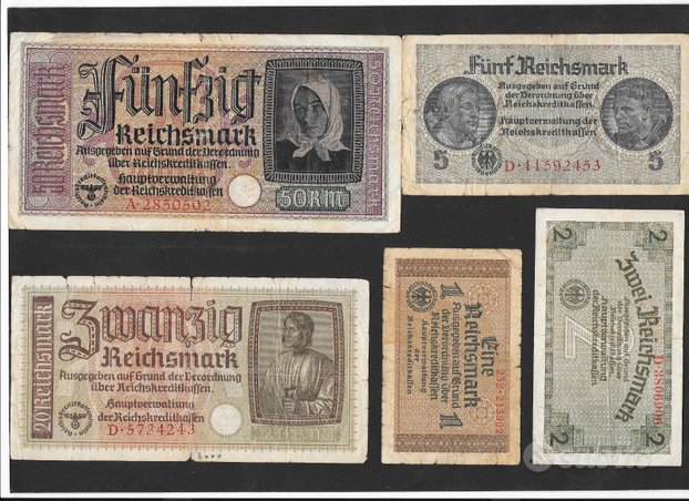 Banconote germania nazista 2^ guerra mondiale