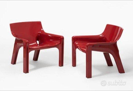 4 sedie poltrone artemide vicario vico magistretti