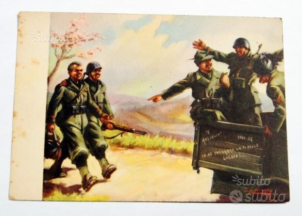 """Cartolina fascista """"TORNANO GLI SQUADRISTI"""" - 1942"""