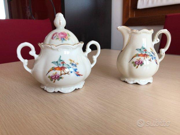 Zuccheriera e lattiera porcellana Mitterteich
