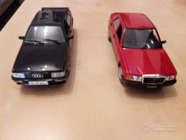 Modellini Audi urquattro e Mercedes 190